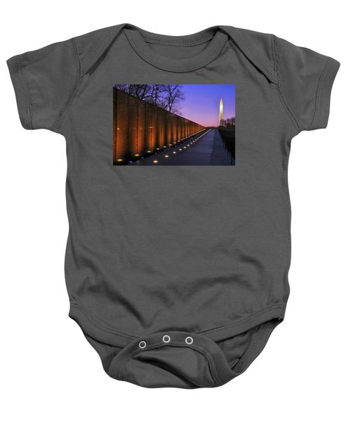 Vietnam Veterans Memorial At Sunset Baby Onesie