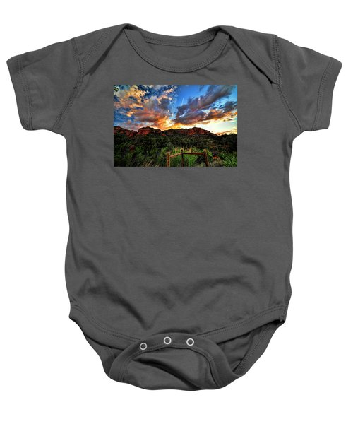 View From The Fence  Baby Onesie