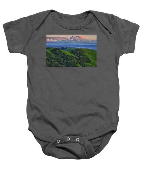 View Of Morro Bay Baby Onesie