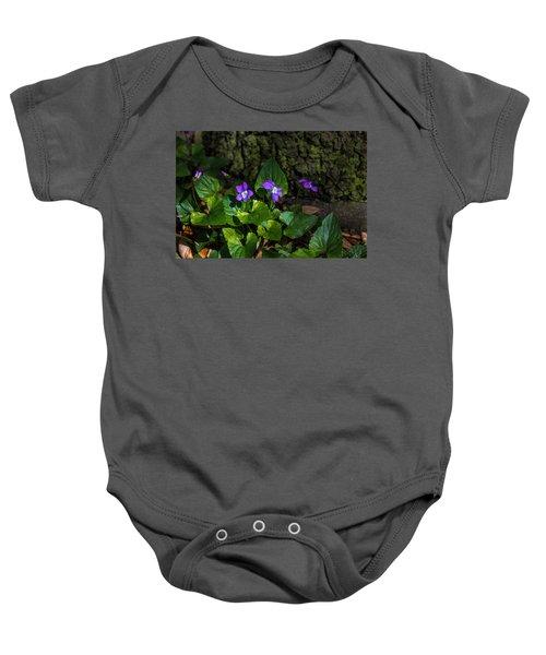 Violets Baby Onesie