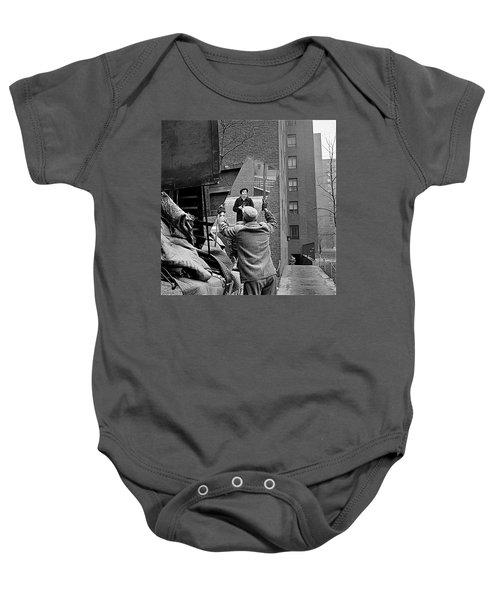 Vivian Maier Self Portrait Probably Taken In Chicago Illinois 1955 Baby Onesie