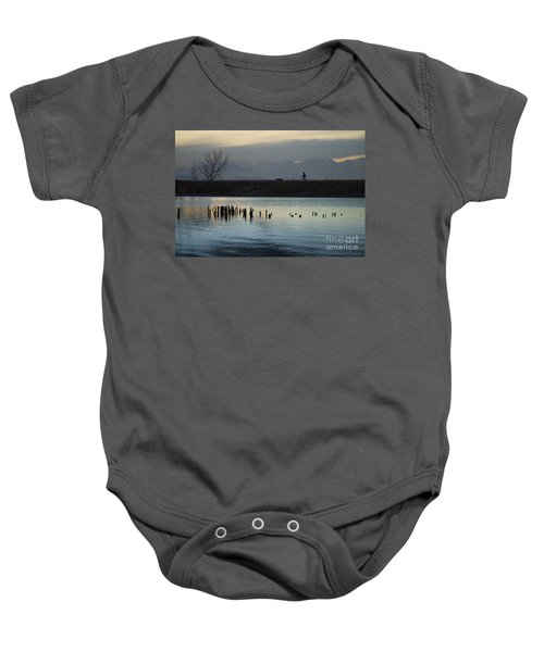 Walking The Dog Baby Onesie