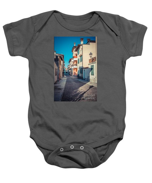 walking through Grado - through the past Baby Onesie
