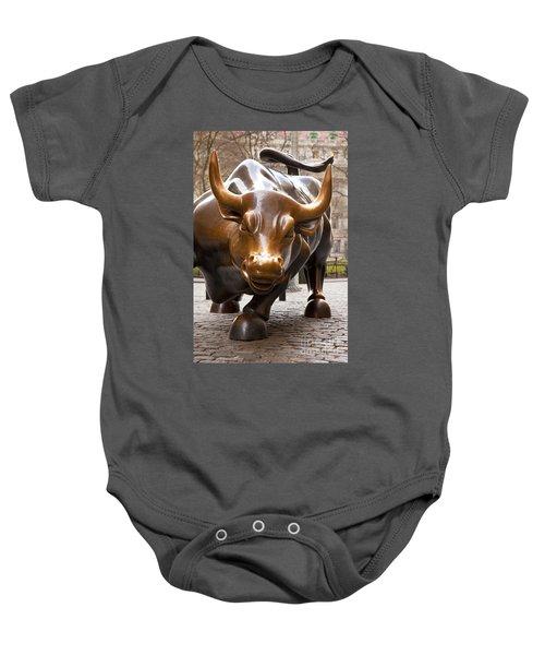Wall Street Bull Baby Onesie