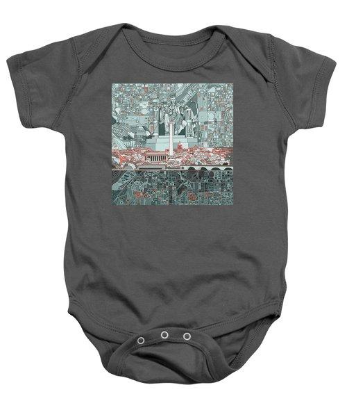 Washington Dc Skyline Abstract Baby Onesie