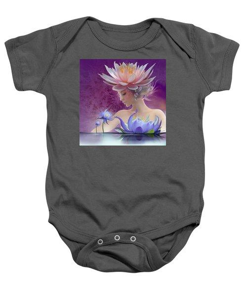Water Of Life - In Violet Baby Onesie