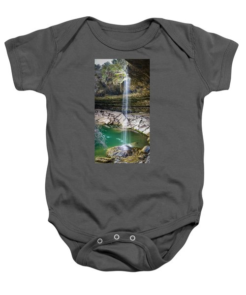 Waterfall At Hamilton Pool Baby Onesie