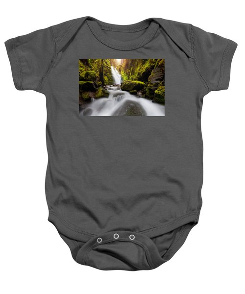 Waterfall Glow Baby Onesie