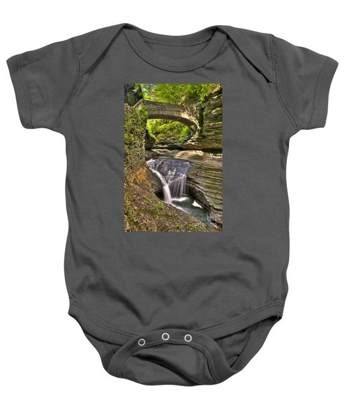 Watkins Glen Waterfalls Baby Onesie