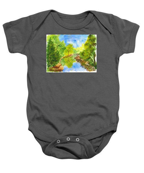 Weber River Reflection Baby Onesie