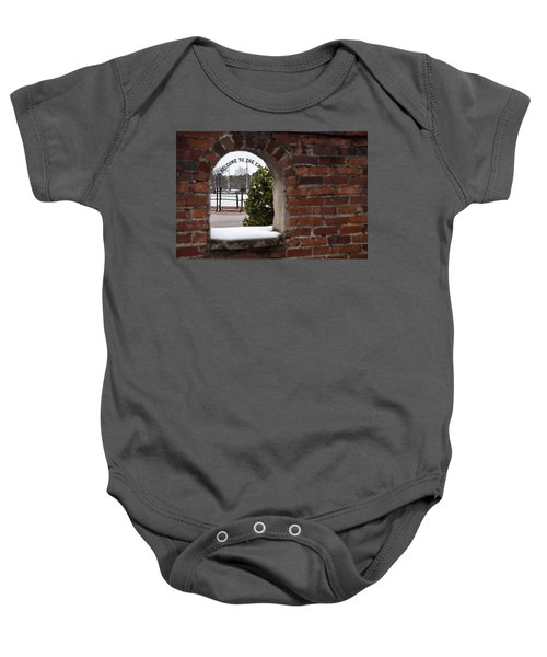 Welcome To The Cage Baby Onesie