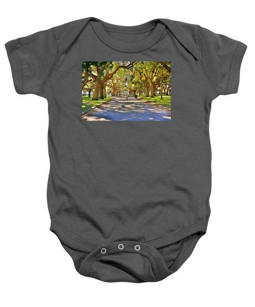White Point Gardens At Battery Park Charleston Sc Hdr Baby Onesie