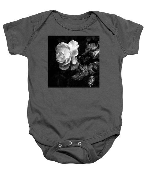 White Rose Full Bloom Baby Onesie