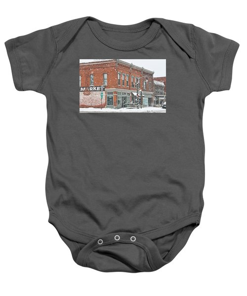 Whitehouse Ohio In Snow 7032 Baby Onesie