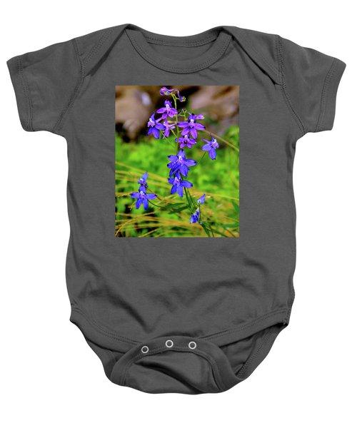 Wildflower Larkspur Baby Onesie