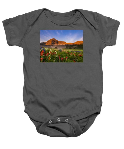 Wildflowers In Bloom Baby Onesie