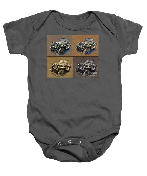 Willys Jeep Mb Car Drawing Baby Onesie
