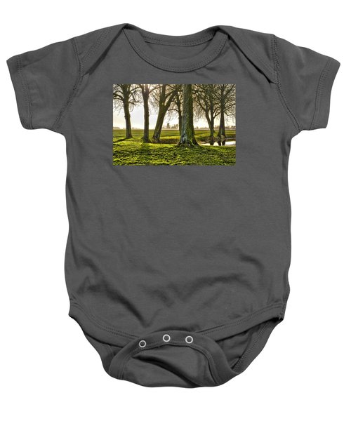 Windmill And Trees In Groningen Baby Onesie