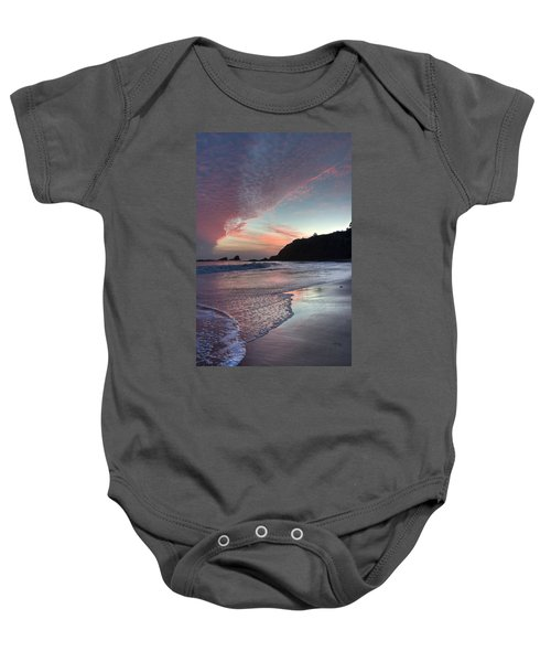 Winter Sunset Crescent Bay Baby Onesie