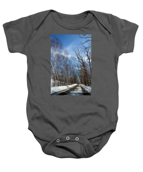 Wisconsin Winter Road Baby Onesie