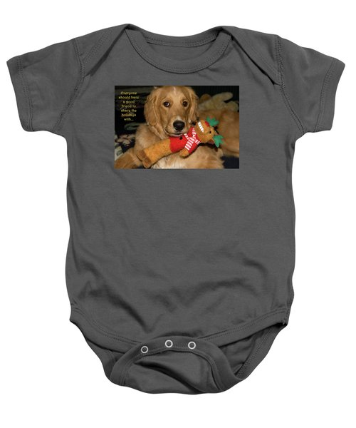 Wish For A Christmas Friend Baby Onesie