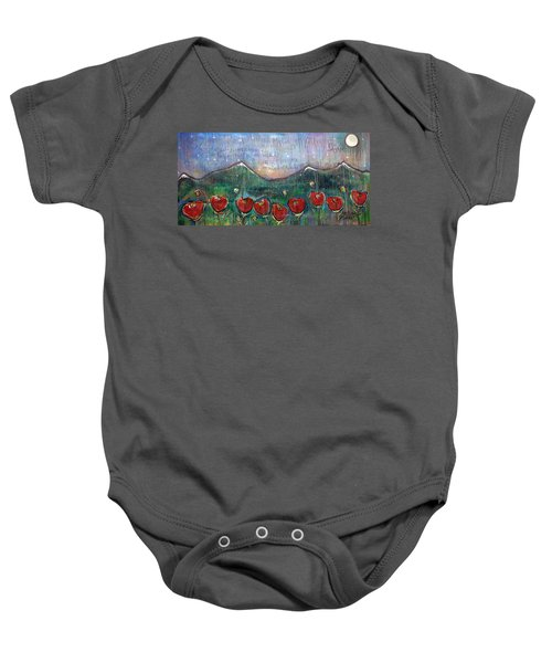 With Or Without You Baby Onesie