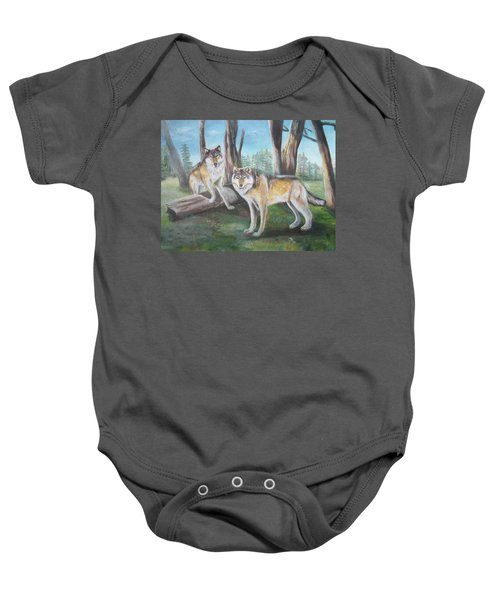 Wolves In The Forest Baby Onesie