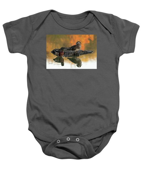 Wood Ducks Baby Onesie