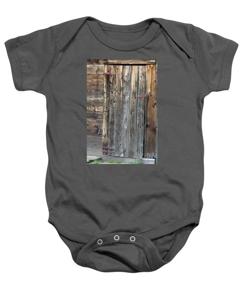 Wood Shed Door Baby Onesie