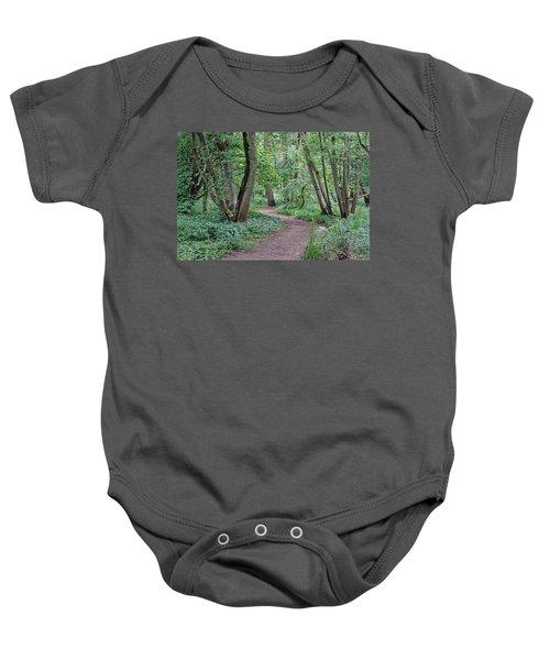 Woodland Path  Baby Onesie