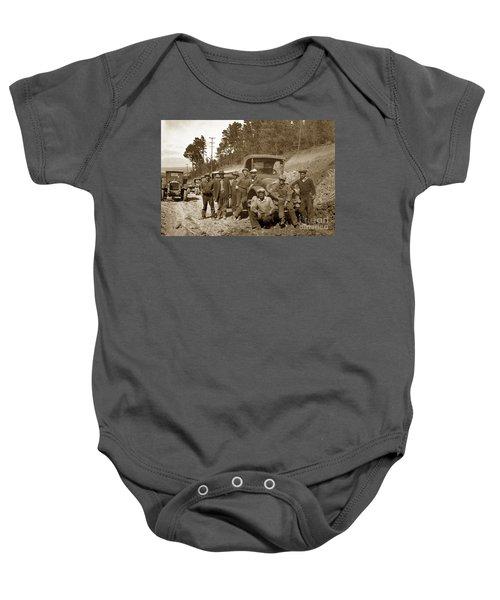 Workers On Highway One Monterey Carmel Hill California 1929 Baby Onesie
