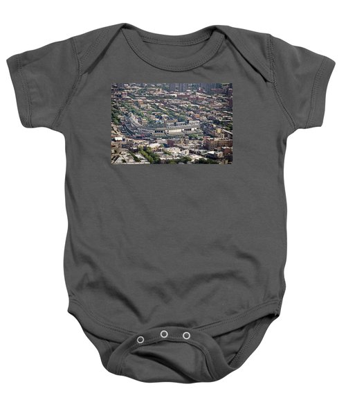 Wrigley Field - Home Of The Chicago Cubs Baby Onesie by Adam Romanowicz