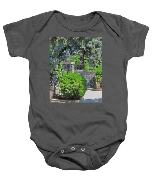 Wrought Iron Gate Baby Onesie