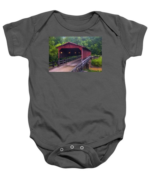 Wv Covered Bridge Baby Onesie