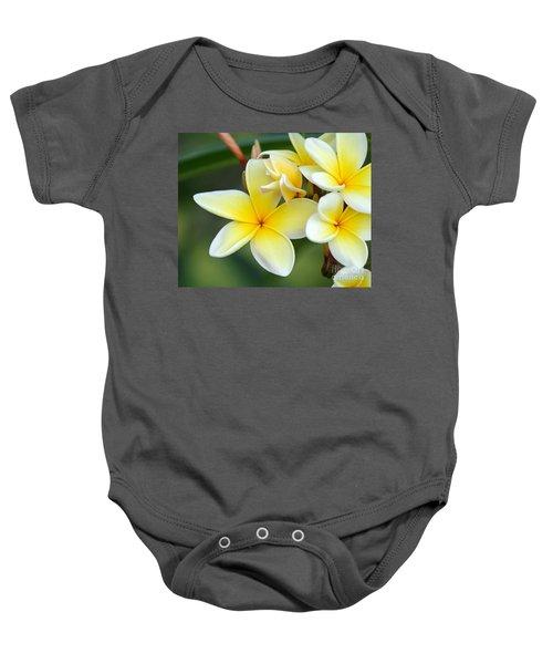 Yellow Frangipani Flowers Baby Onesie