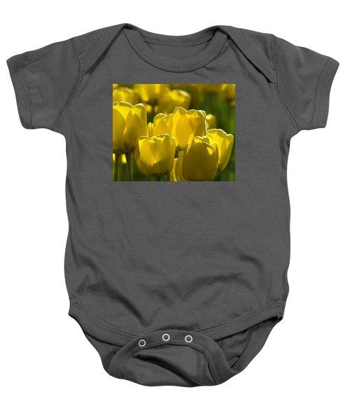 Yellow Tulips  Baby Onesie