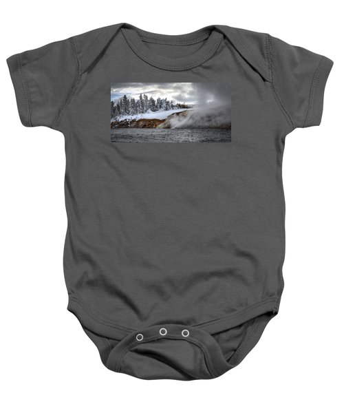 Yellowstone's Fire And Ice Baby Onesie