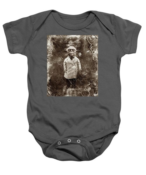 Yoda Star Wars Antique Photo Baby Onesie