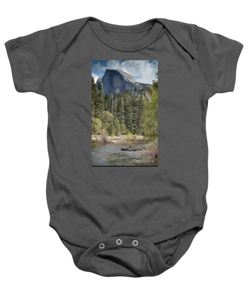 Yosemite National Park. Half Dome Baby Onesie by Juli Scalzi