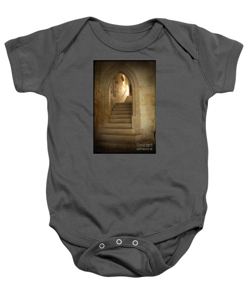 Baby Onesie featuring the photograph All Experience Is An Arch by Heiko Koehrer-Wagner