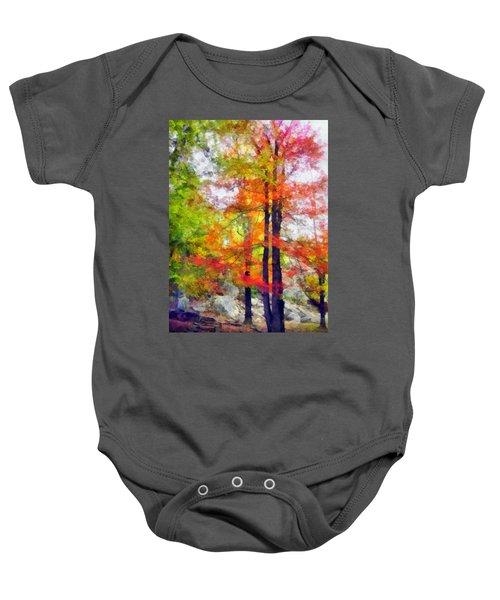 Autumnal Rainbow Baby Onesie
