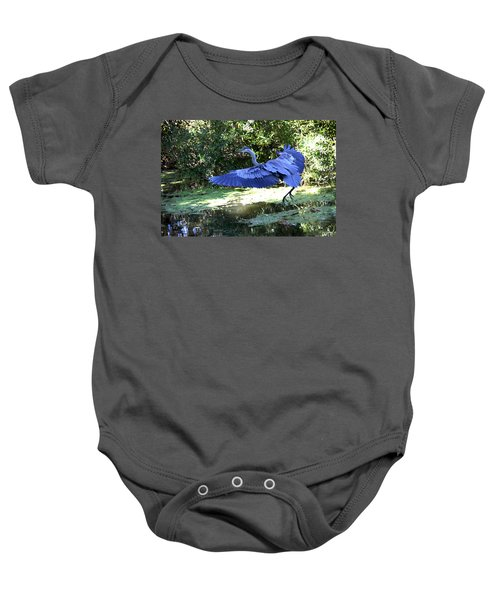 Big Blue In Flight Baby Onesie