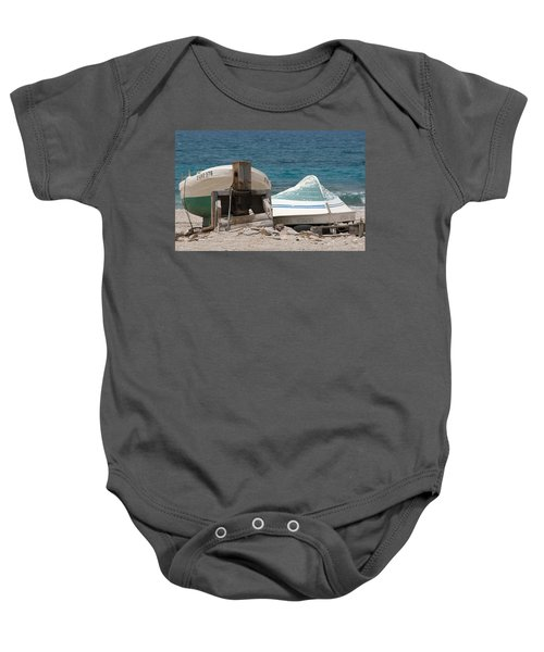 Blue Skiffs Spain Baby Onesie