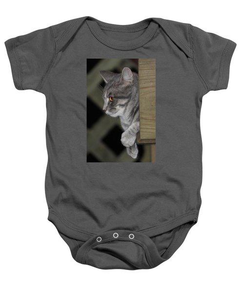 Cat On Steps Baby Onesie