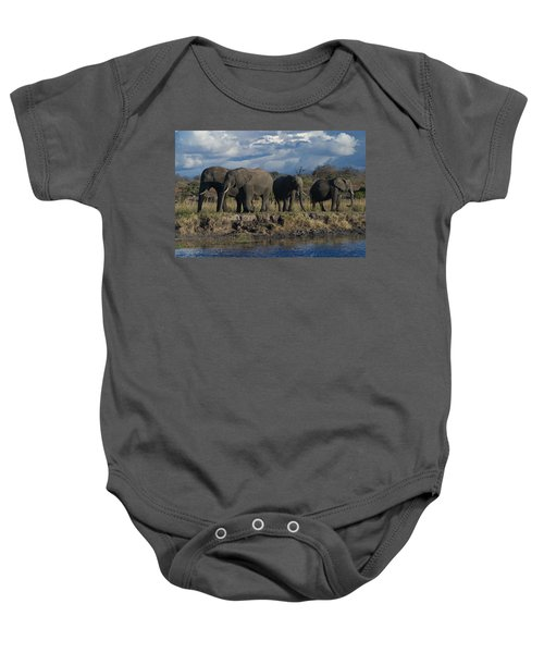 Clouds And Elephants Baby Onesie