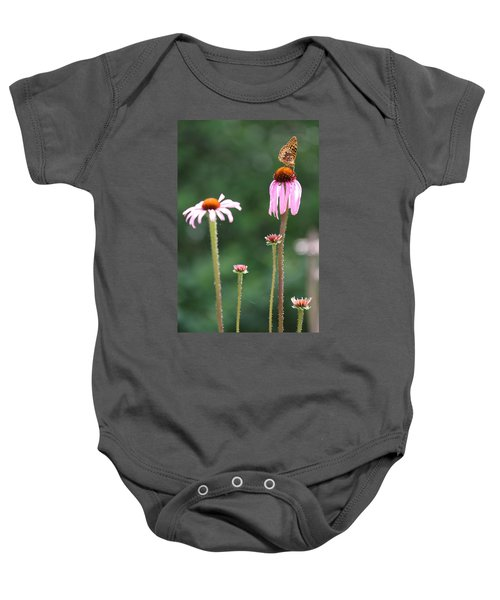 Coneflowers And Butterfly Baby Onesie