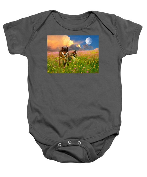 Cry At The Moon Baby Onesie