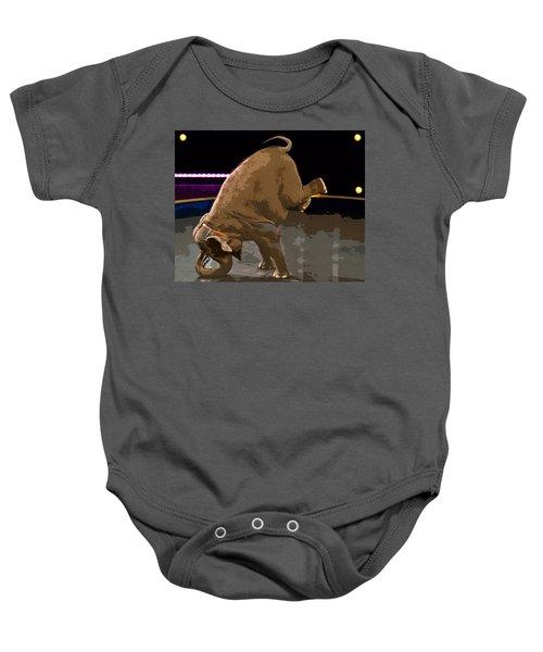 Elephant Perfomance At Circus Baby Onesie