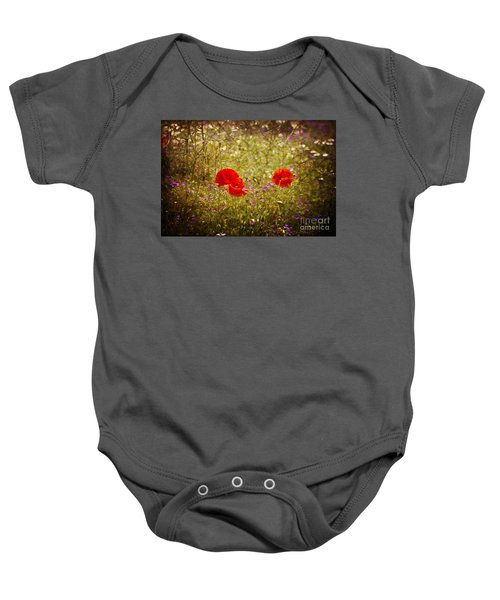 English Summer Meadow. Baby Onesie