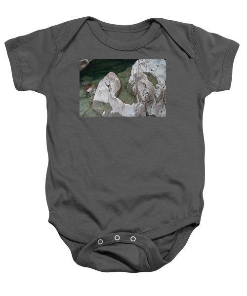 Etched Rock Water 5 Baby Onesie